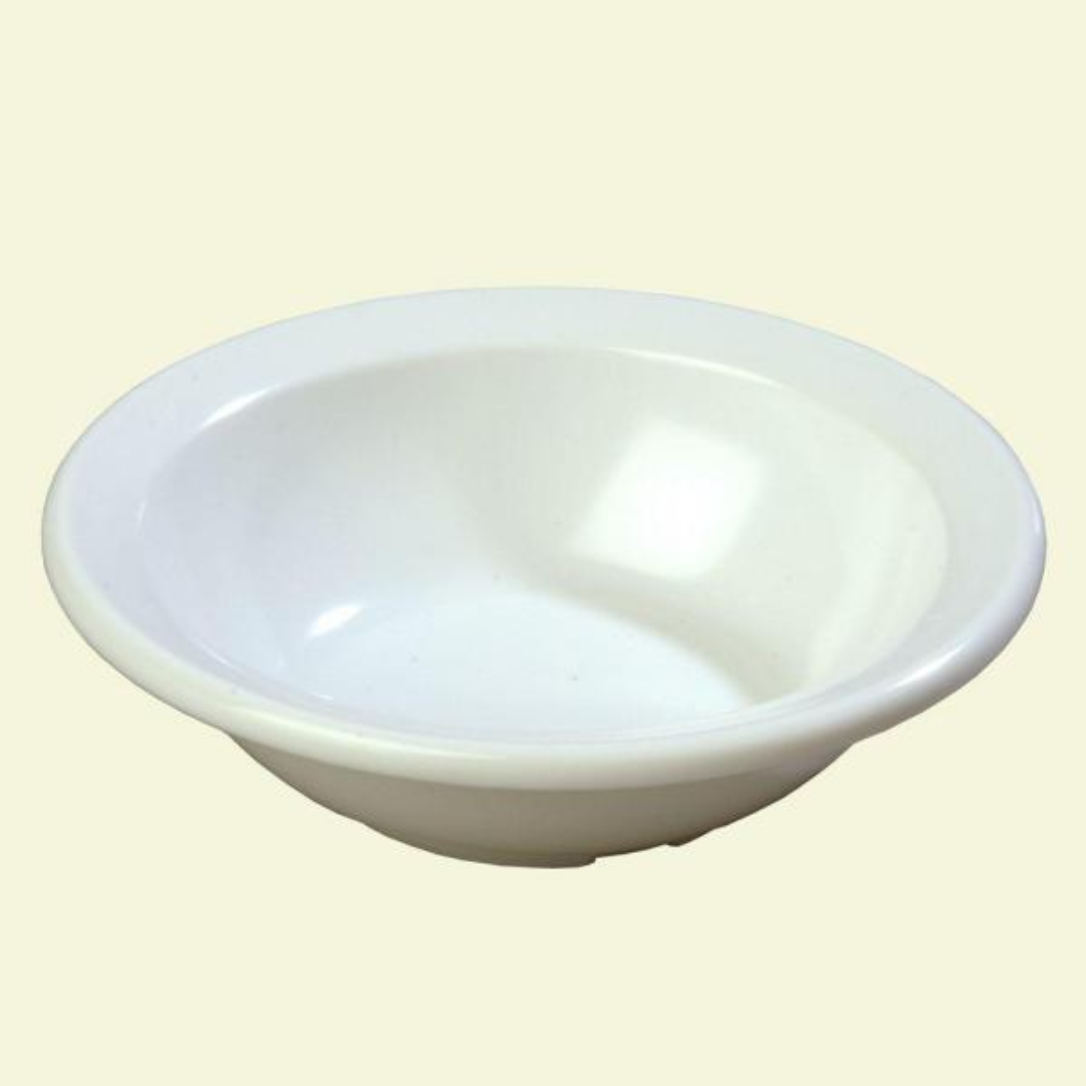 Carlisle 4.4 oz., 4.60 in. Diameter Rimmed Fruit Bowl in White (Set of 48)