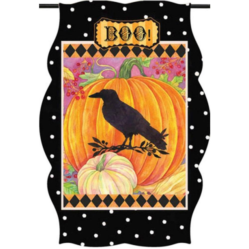 Evergreen 1 ft. x 1-1/2 ft. Imperial Frightful Delights Raven Flag