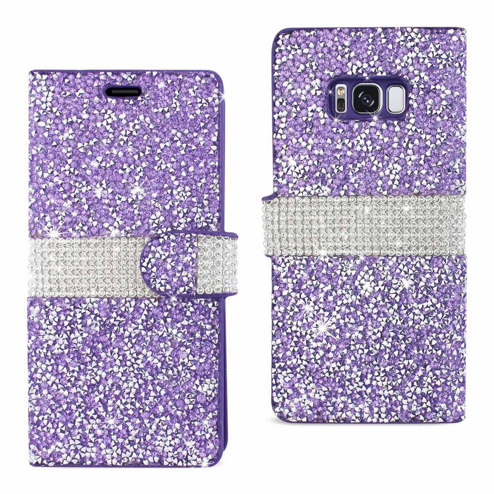 Galaxy S8 Rhinestone Case in Purple