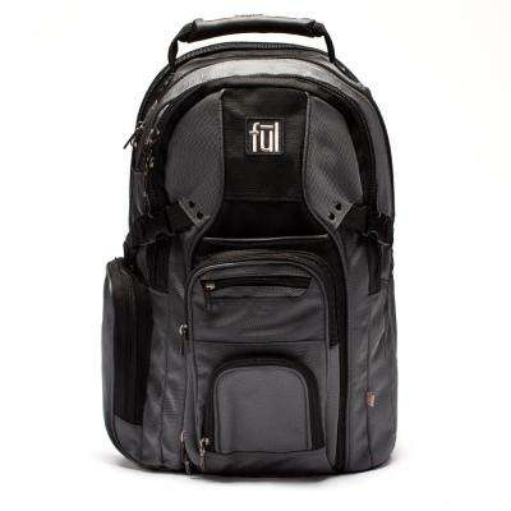 Tennman Laptop Backpack 17 in. Black/Grey Laptop Sleeve