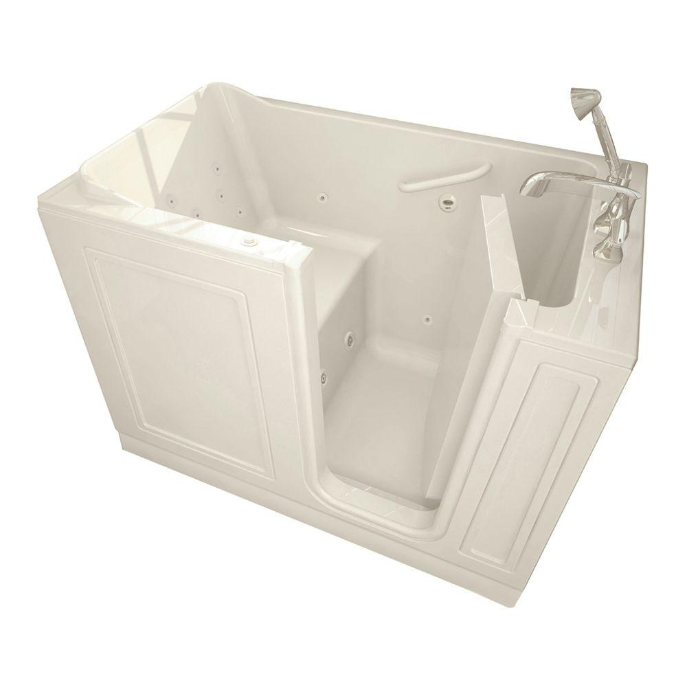 American Standard Acrylic Standard Series 51 in. x 30 in. Walk-In Whirlpool Tub with Quick Drain in Linen