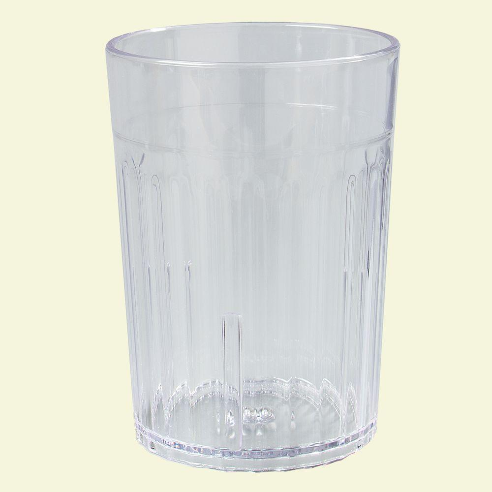 10 oz. SAN Plastic Tumbler in Clear (Case of 72)