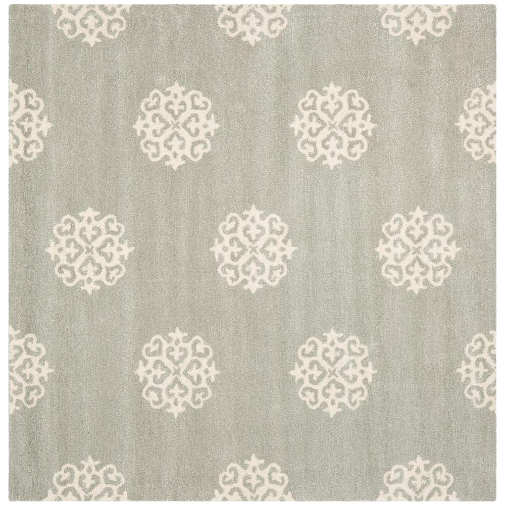 Soho Grey/Ivory 6 ft. x 6 ft. Area Rug