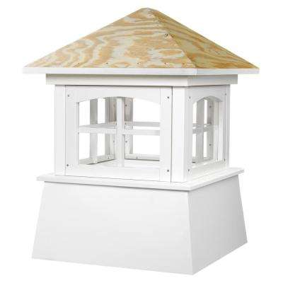 Brookfield 30 in. x 43 in. Vinyl Cupola with Wood Roof