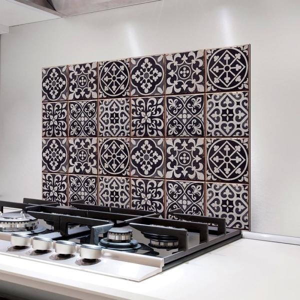 Black Tiles Azulejos Kitchen Panel Wall Decal