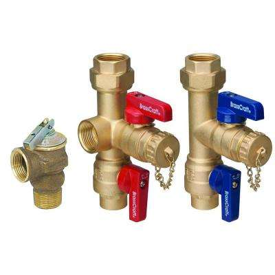 3/4 in. Sweat x 3/4 in. IPS Tankless Water Heater Service Valves with 200,000 BTU Pressure Relief Valve