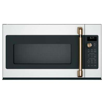 1.7 cu. ft. Over the Range Convection Microwave in Matte White with Sensor Cooking, Fingerprint Resistant