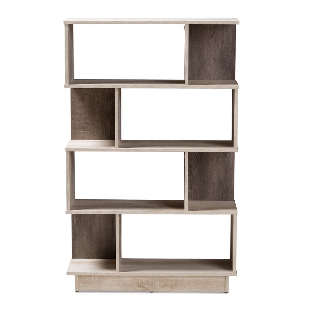Teagan Oak Brown Display Bookcase