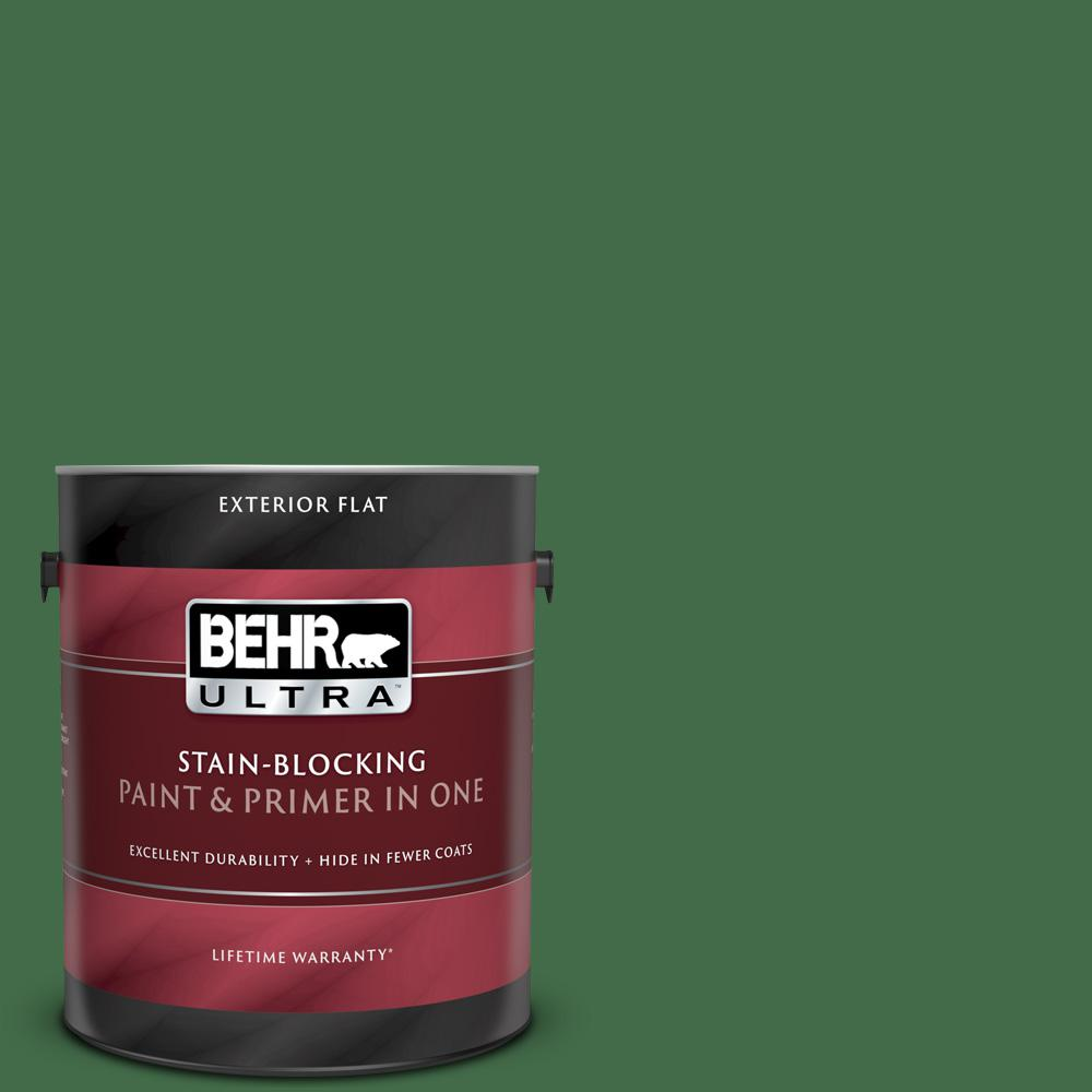 Reviews For Behr Ultra 1 Gal M400 7 Garden Cucumber Flat Exterior Paint And Primer In One 485301 The Home Depot