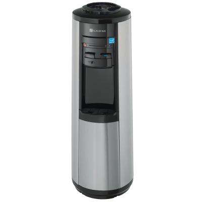 3 Gal. or 5 Gal. Hot, Room and Cold Water Dispenser in Black and Stainless Steel