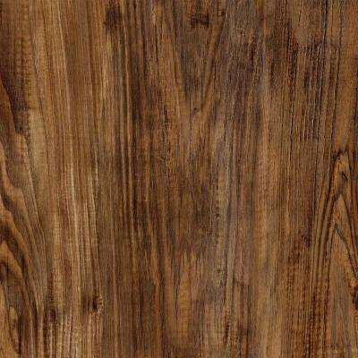8 in. x 10 in. Laminate Sample in Salem Chestnut with Virtual Design SoftGrain Finish