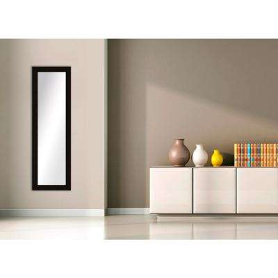 52.5 in. x 16.5 in. Espresso Framed Mirror