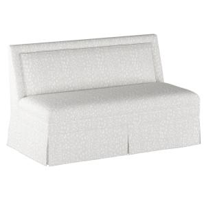 Skyline Furniture Linen Leopard Ivory Skirted Settee 8206SKLNLPRIVO   The  Home Depot
