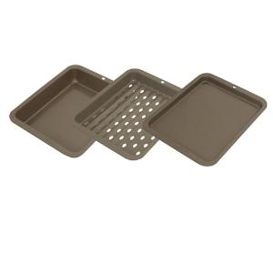 Range Kleen 8 inch x 10 inch Outer Non-Stick 3-Piece Petite Bakeware Set by Range Kleen
