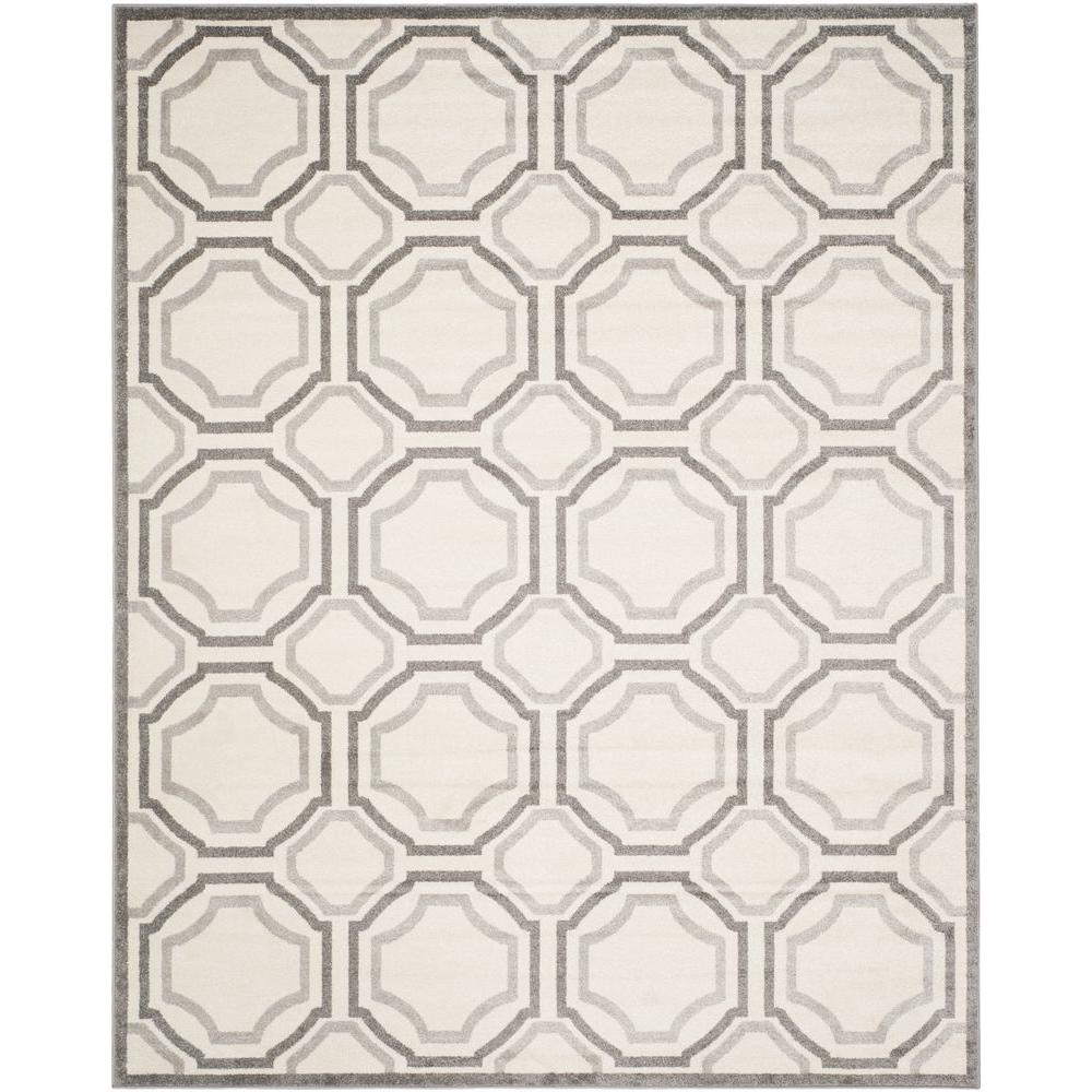 Amherst Ivory/Light Gray 10 ft. x 14 ft. Indoor/Outdoor Area Rug