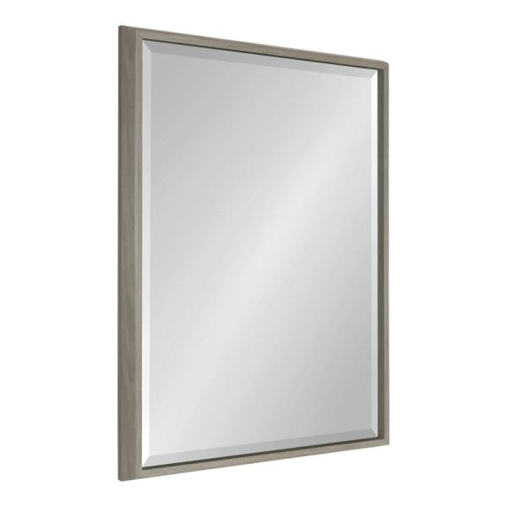 Kate and Laurel Blake Rectangle Gray Wall Mirror 214058