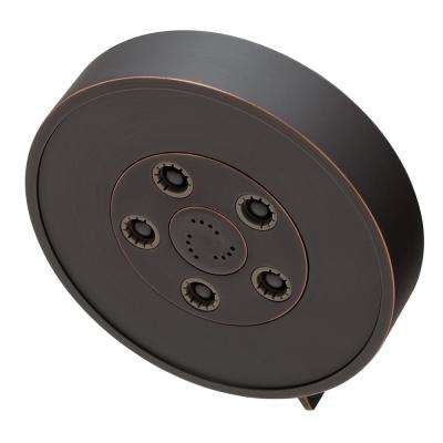 Neo Anystream 3-Spray 5.5 in. Fixed Round High Pressure Showerhead in Oil-Rubbed Bronze