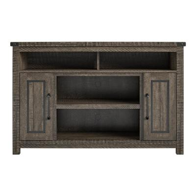 Harnish 48 in. Rustic Oak Particle Board TV Stand Fits TVs Up to 48 in. with Cable Management