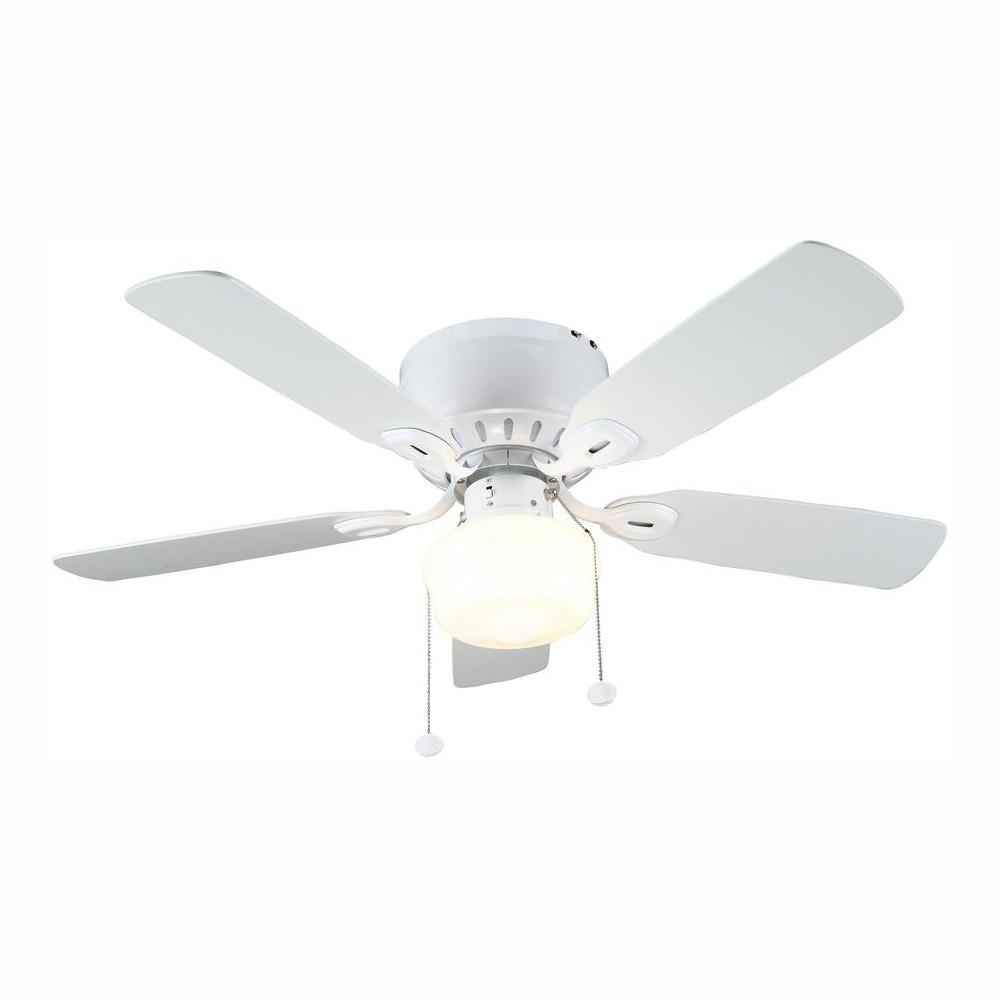 Kennesaw 42 in. LED Indoor White Ceiling Fan with Light Kit