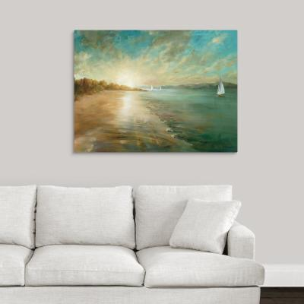 """Coastal Glow"" by Danhui Nai Canvas Wall Art"