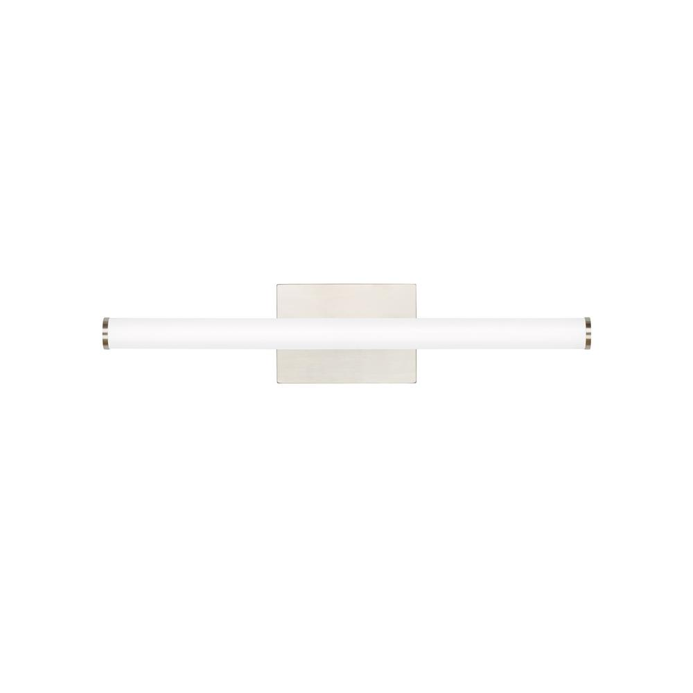 LBL Lighting Lufe Round 24 Bath 23.3-Watt Satin Nickel Integrated LED Bath Light 277-Volt Commercial
