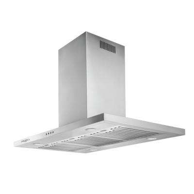 Aero Island IV 36 in. Island-Mounted Convertible Range Hood in Stainless Steel