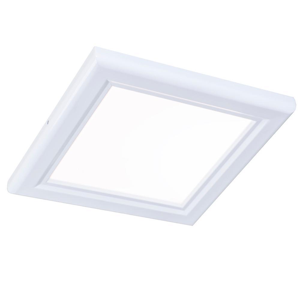 1 ft. x 1ft. White Dimmable Edge-Lit 15-Watt 4000K Integrated LED