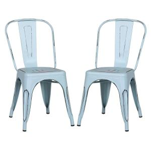 Trattoria Distressed Blue Side Chair (Set of 2)