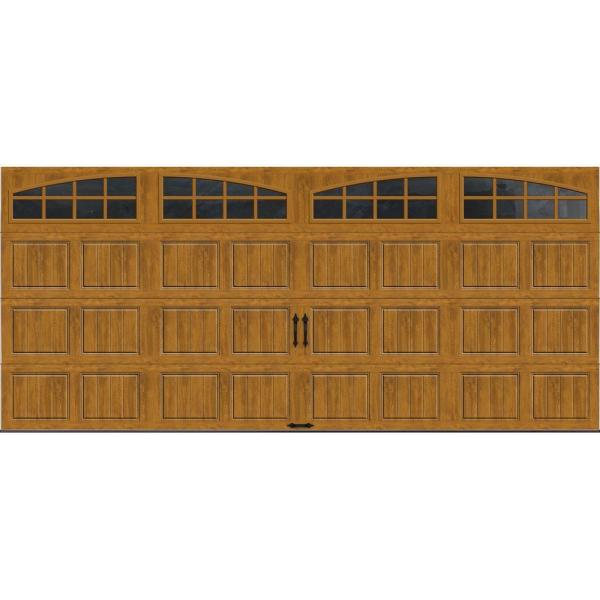 Clopay Gallery Collection 16 Ft X 7 Ft 6 5 R Value Insulated Ultra Grain Medium Garage Door With Arch Window Gr1sp Mo Grla1 The Home Depot