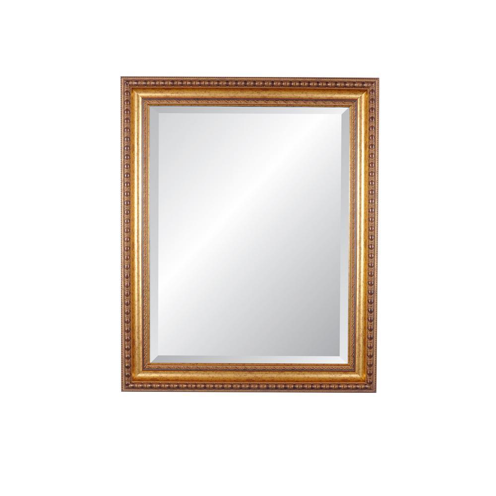 Lucia Vintage Gold Beveled Mirror