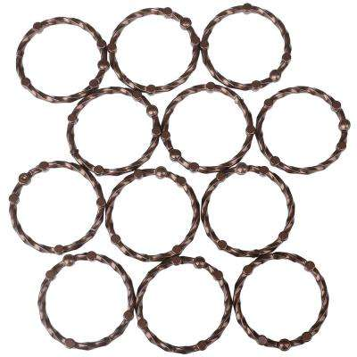 Shower Eternity Curtain Rings in Oil Rubbed Bronze (Set of 12)