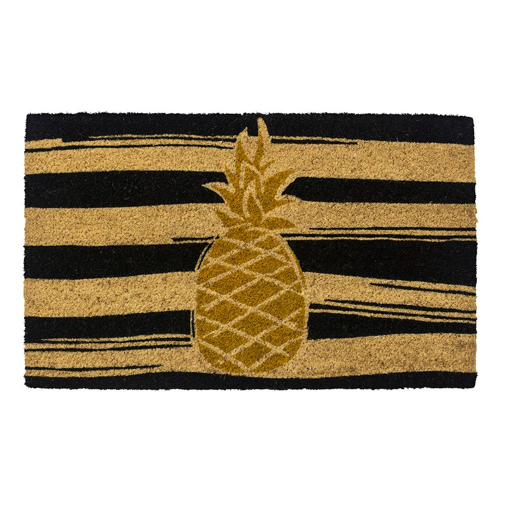 Golden Pineapple 28 in. x 17 in. Non-Slip Coir Door Mat