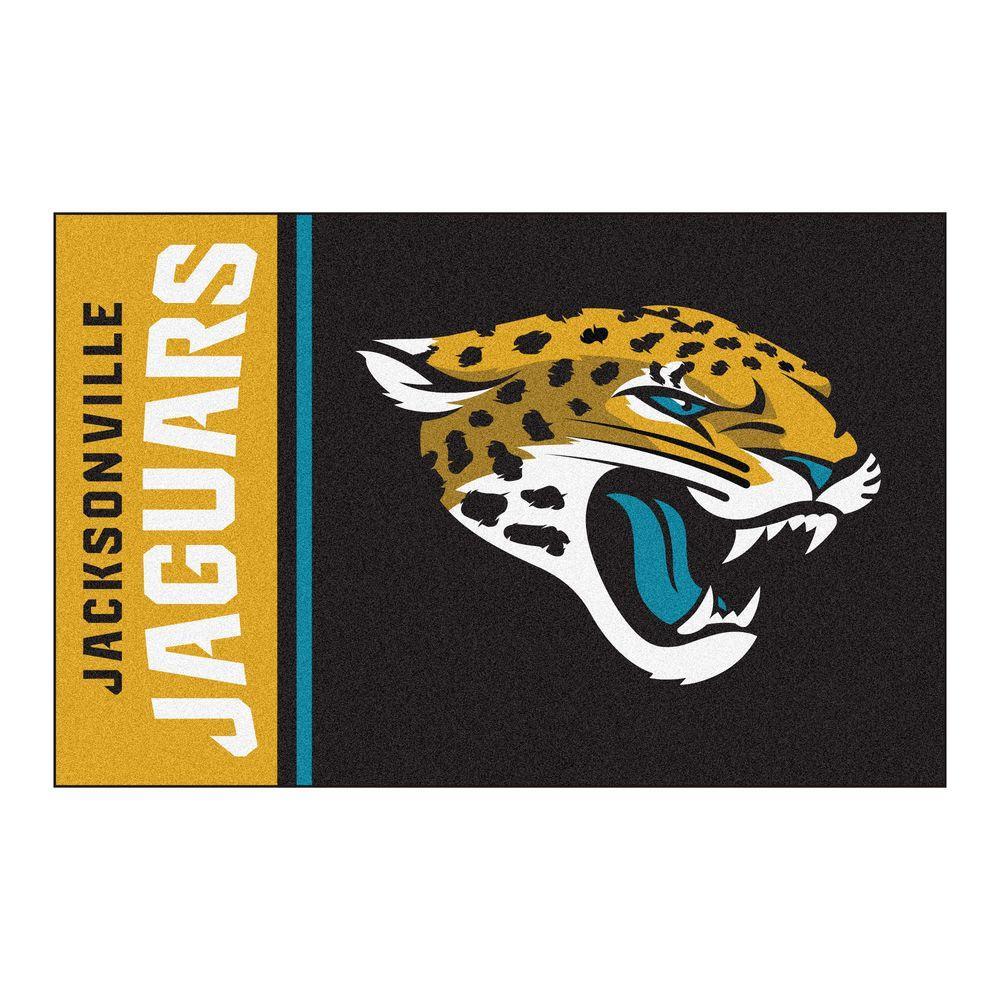 NFL - Jacksonville Jaguars Black Uniform Inspired 1 ft. 7 in. x 2 ft. 6 in. Accent Rug