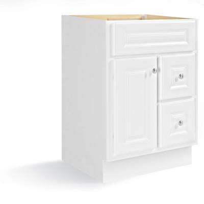 Hampton 24 in. W x 21 in. D x 33.5 in. H Bath Vanity Cabinet Only in White