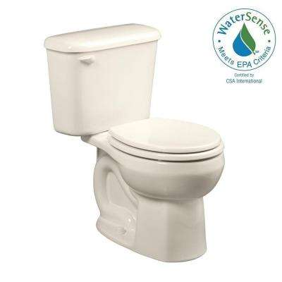 Colony 10 in. Rough-In 2-piece 1.28 GPF Single Flush Round Toilet in Linen