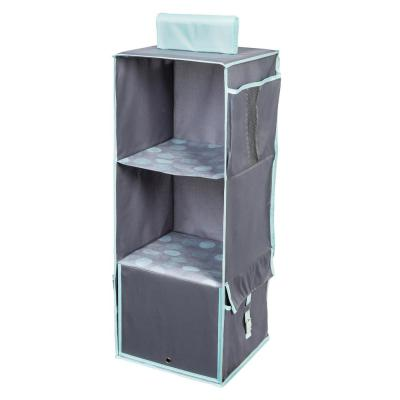 Back to School 3-Shelf Polyester Hanging Organizer in Mint