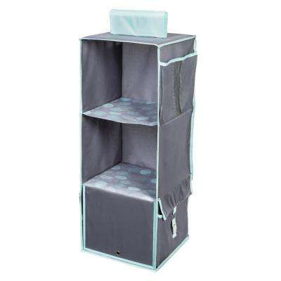 Back To School 3 Shelf Polyester Hanging Organizer In Mint