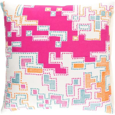 Mecklen Purple Geometric Polyester 22 in. x 22 in. Throw Pillow