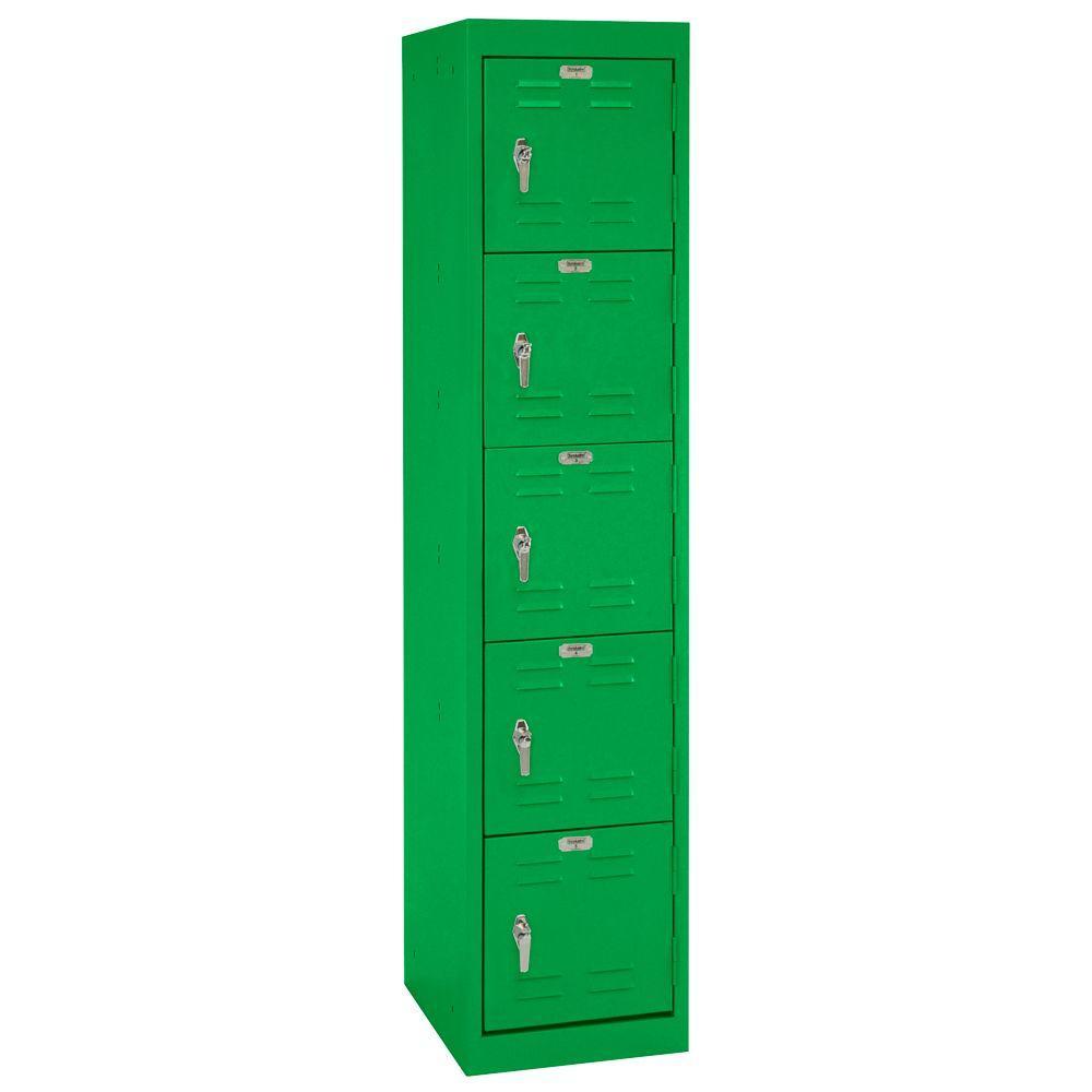 Sandusky 15 in. W x 66 in. H x 18 in. D 5-Tier Welded Storage Locker in Primary Green