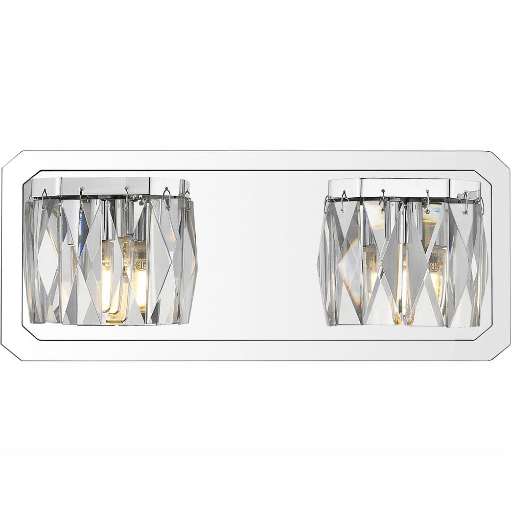 Golden Lighting Krysta 2-Light Chrome Bath Light