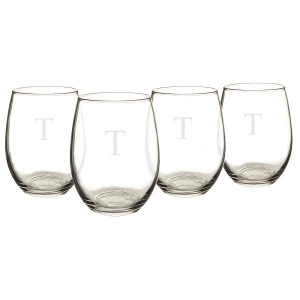 Personalized Stemless Wine Glasses T
