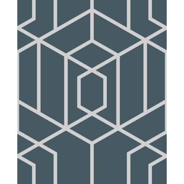 Disco Vogue Navy Strippable Removable Wallpaper