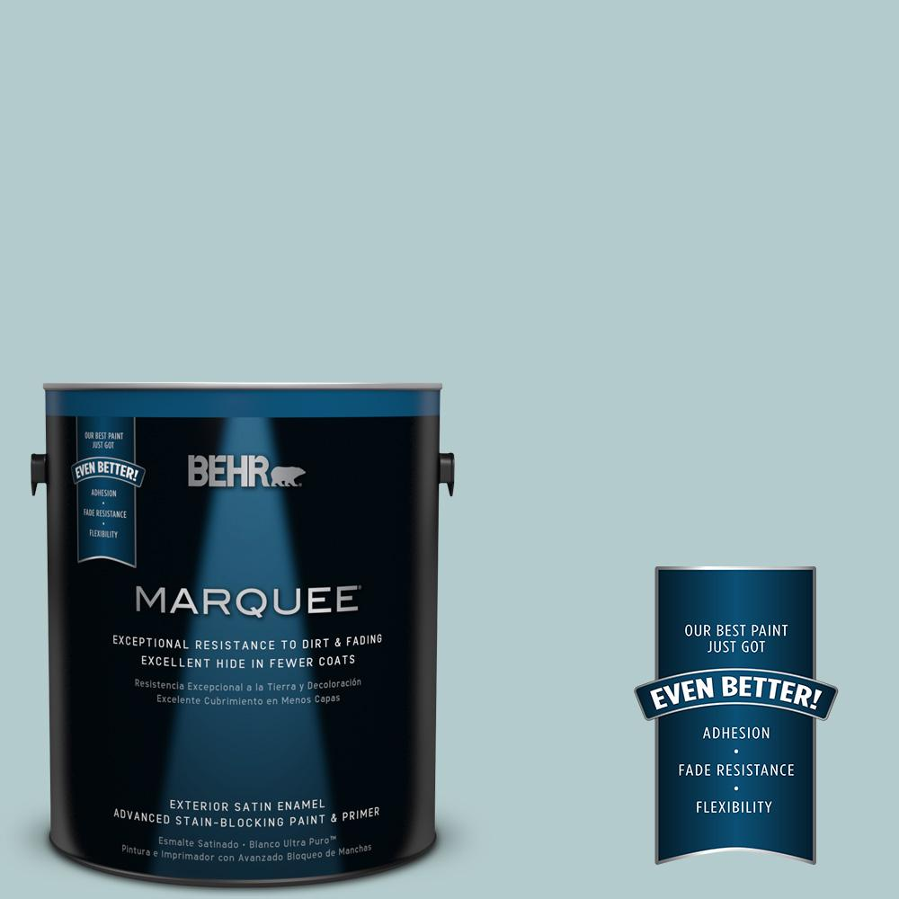 BEHR MARQUEE 1-gal. #PPU13-15 Clear Pond Satin Enamel Exterior Paint