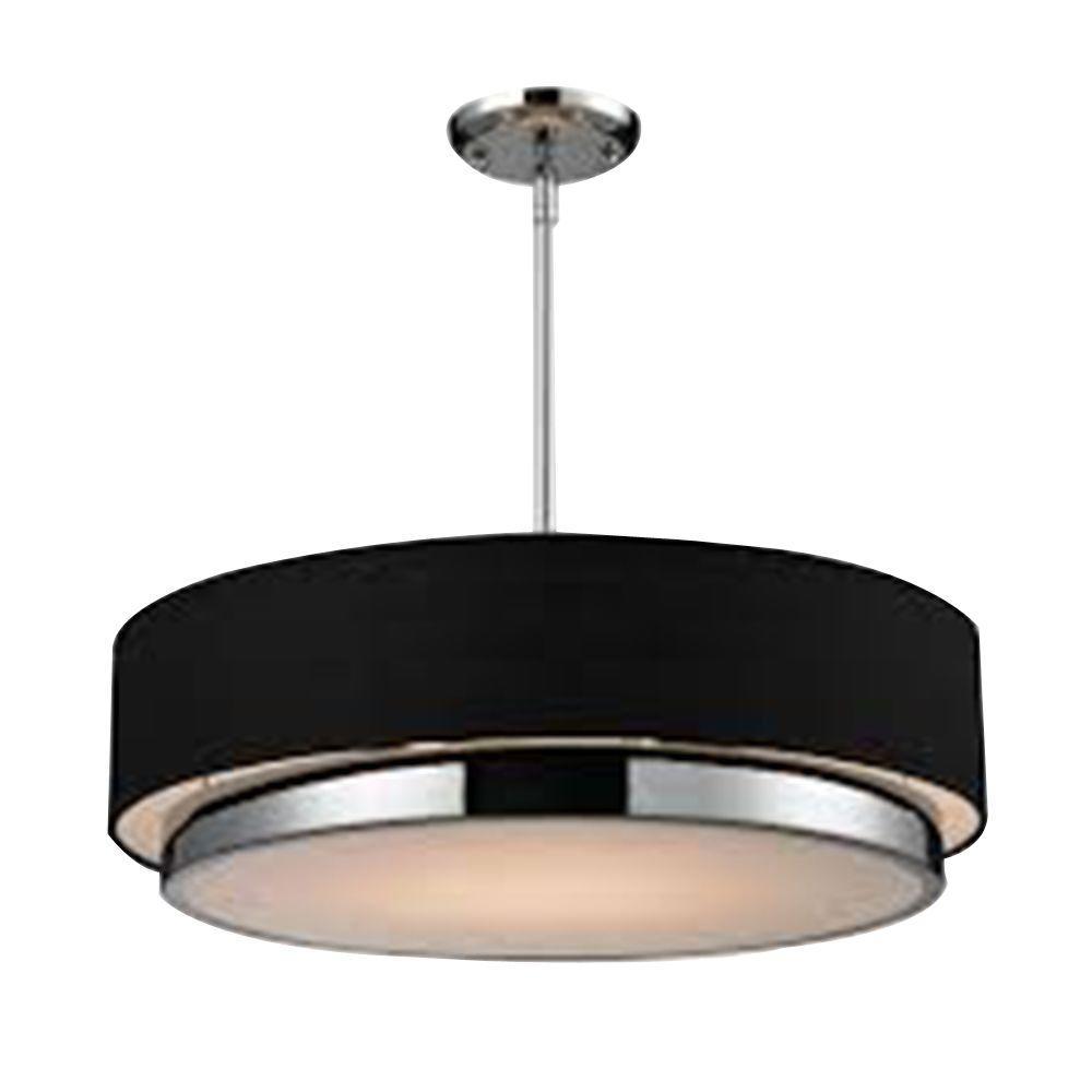 Filament Design Lawrence 3-Light Chrome Incandescent Ceiling Pendant