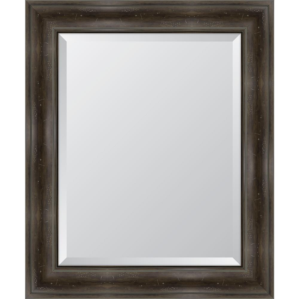 30 in. x 36 in. Framed 4 in. Grey English Pine Resin Frame Mirror