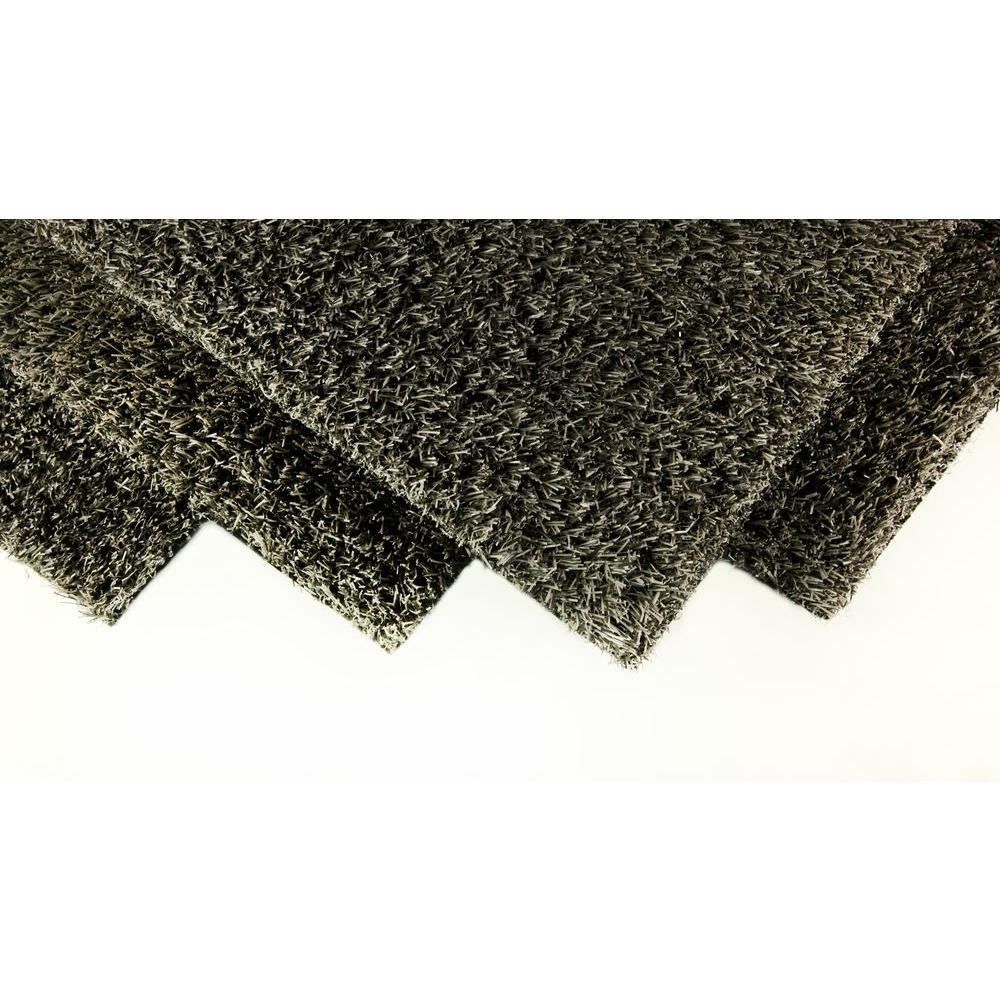 GREENLINE Slate Grey 8 ft. x 12 ft. Artificial Grass Synthetic ...