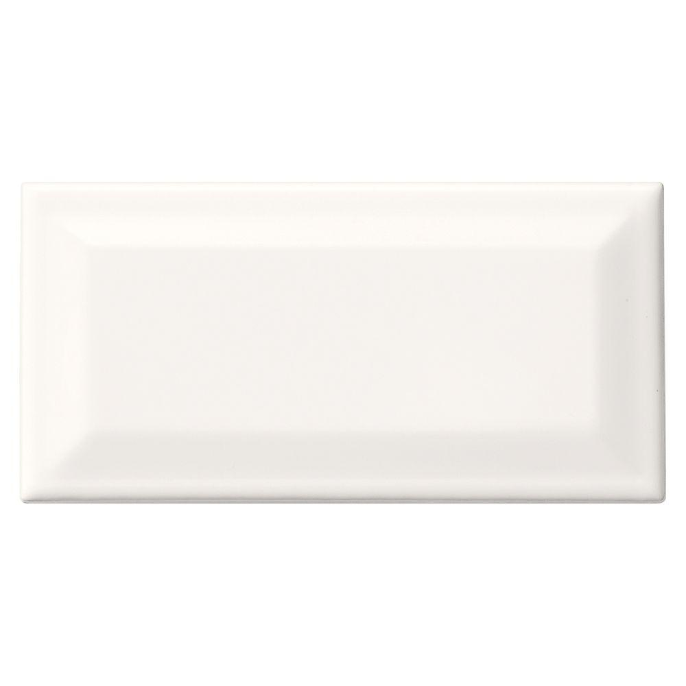 Daltile rittenhouse square white 3 in x 6 in glazed ceramic daltile rittenhouse square white 3 in x 6 in glazed ceramic bevel wall tile dailygadgetfo Gallery
