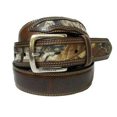 38MM REALTREE XTRA CANVAS BILLETS/DBLE STITCH LEA OVERLAY EDGES/NR BUCKLE W JD SCRIPT