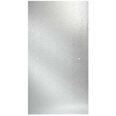 24-3/8 in. x 63-1/8 in. x 1/4 in. Frameless Pivot Shower Door Glass Panel in Rain (for 27-30 in. Doors)