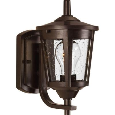 East Haven 1-Light Antique Bronze 10.4 in. Outdoor Wall Lantern Sconce
